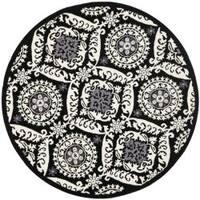 Safavieh Hand-hooked Chelsea Heritage Black Wool Rug - 8' x 8' Round