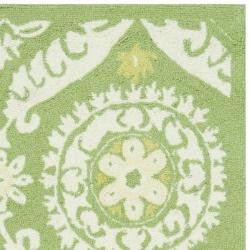 Safavieh Hand-hooked Chelsea Heritage Green Wool Rug (2'9 x 4'9)
