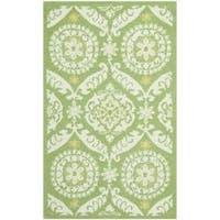 Safavieh Hand-hooked Chelsea Heritage Green Wool Rug - 2'9 x 4'9