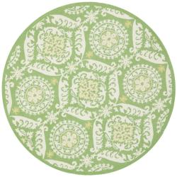Safavieh Hand-hooked Chelsea Heritage Green Wool Rug (8' Round)
