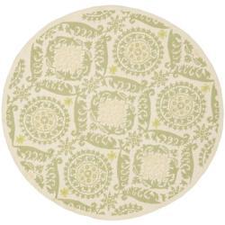 Safavieh Hand-hooked Chelsea Heritage Beige Wool Rug (8' Round)