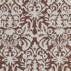 Safavieh Hand-hooked Chelsea Damask Brown Wool Rug (6' x 9')