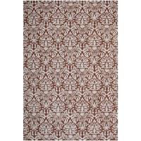 Safavieh Hand-hooked Chelsea Damask Brown Wool Rug - 6' x 9'