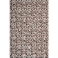Safavieh Hand-hooked Chelsea Damask Brown Wool Rug - 7'6 x 9'9