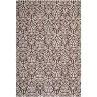 Safavieh Hand-hooked Chelsea Damask Brown Wool Rug - 8'9 x 11'9