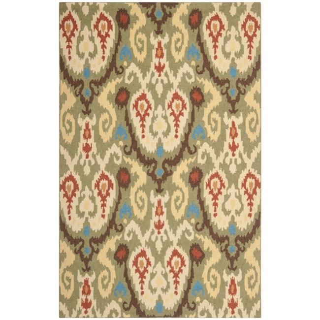 Safavieh Hand-hooked Chelsea Green Wool Rug (6' x 9')