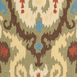 Safavieh Hand-hooked Chelsea Green Wool Rug (6' x 9') - Thumbnail 2