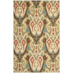 Safavieh Large Hand-Hooked Chelsea Green Wool Rug - 7'6 x 9'9 - Thumbnail 0