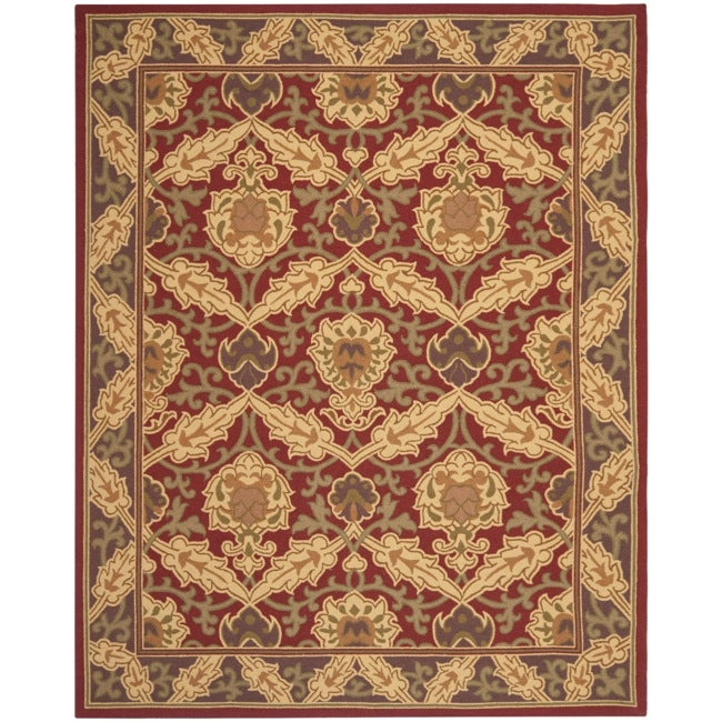 Safavieh Hand-hooked Chelsea Red Wool Rug - 8'9 X 11'9