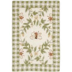 Safavieh Hand-hooked Bumblebee Ivory Wool Rug (1'8 x 2'6)