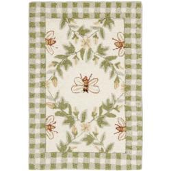 Safavieh Hand-hooked Bumblebee Ivory Wool Rug - 1'8 x 2'6