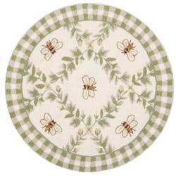 Safavieh Hand-hooked Bumblebee Ivory Wool Rug (3' Round)