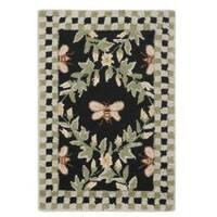 Safavieh Hand-hooked Bumblebee Black Wool Rug - 1'8 x 2'6