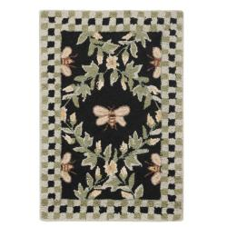 Safavieh Hand-hooked Bumblebee Black Wool Rug (1'8 x 2'6) - 1'8 x 2'6