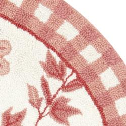 Safavieh Hand-hooked Bumblebee Ivory/ Rose Wool Rug (3' Round) - Thumbnail 1