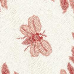 Safavieh Hand-hooked Bumblebee Ivory/ Rose Wool Rug (3' Round) - Thumbnail 2