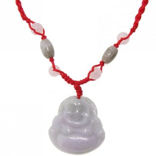 Handmade Happy Buddha Jade Necklace (China)