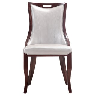 Emperor Silver Leather Dining Chairs (Set of 2)