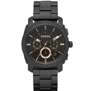 Fossil Men's FS4682 Machine Black Steel Watch