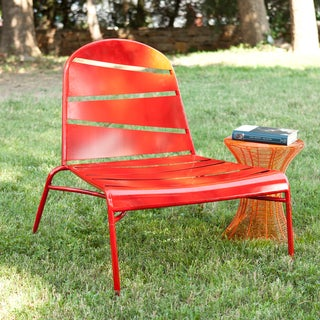 Indoor/ Outdoor Red Lounge Chair