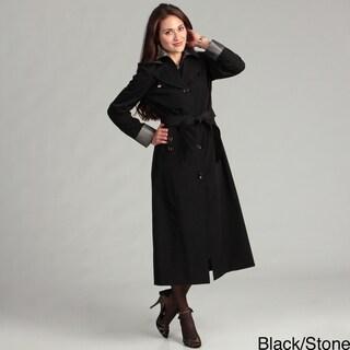 London Fog Women's Two-tone Belted Raincoat