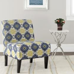 Safavieh Morrocan Motif Ivory/ Blue Armless Club Chair
