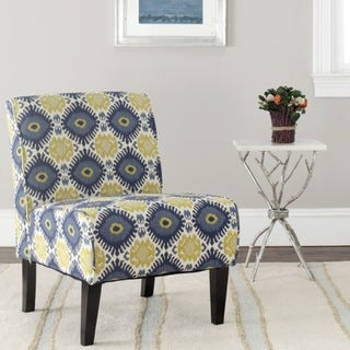 Safavieh Morrocan Motif Ivory/ Blue Armless Club Chair