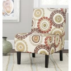 Safavieh Circ Ivory Armless Club Chair