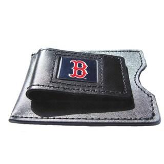 MLB Leather Money Clip Card Holder