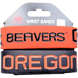 Oregon State Beavers Rubber Wrist Band (Set of 2) NCAA