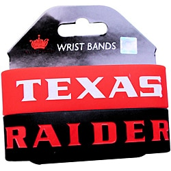 Texas Tech Raiders Rubber Wrist Band (Set of 2) NCAA