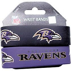 Baltimore Ravens Wrist Band (Set of 2) NFL