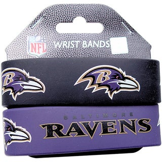 Baltimore Ravens Wrist Band (Set of 2) NFL