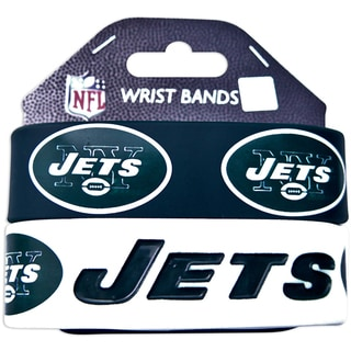New York Jets Rubber Wrist Band (Set of 2)