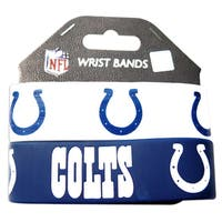Indianapolis Colts Rubber Wrist Bands (Set of 2) NFL