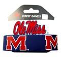 Mississippi Ole Miss Running Rebels Rubber Wrist Bands (Set of 2) NCAA