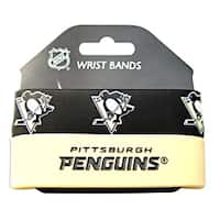 Pittsburgh Penguins Rubber Wrist Band (Set of 2) NHL
