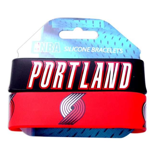Portland Trail Blazers Rubber Wrist Band (Set of 2) NBA