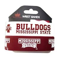 Mississippi State Bulldogs Rubber Wrist Bands (Set of 2) NCAA