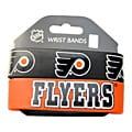 Philladelphia Flyers Rubber Wrist Band (Set of 2) NHL