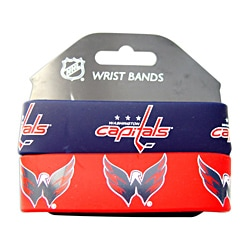 Washington Capitals Rubber Wrist Band (Set of 2) NHL