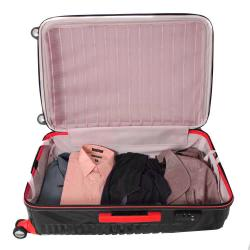 American Vertigo Black 3-piece Lightweight Expandable Hardside Spinner Luggage Set With TSA Lock