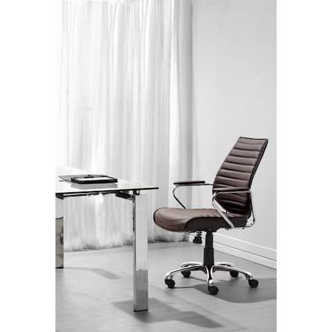 Enterprise Espresso Low Back Leatherette Office Chair