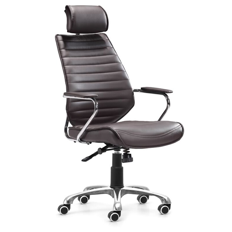 Zuo Enterprise Espresso High Back Leatherette Office Chair