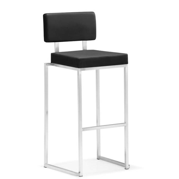 Zuo Black Decade Bar Chair (Set of 2)