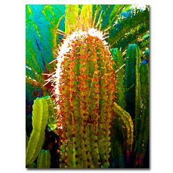 Amy Vangsgard 'Tall Cactus' Vertical Canvas Art