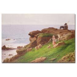 J. Hardwicke Lewis 'The Pet Lamb' Medium-Sized Canvas Art