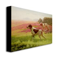 Harrington Bird 'Pointers in the Landscape' Medium Canvas Art