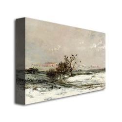 Charles Daubigny 'The Snow,  1873' Canvas Art