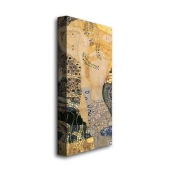 Gustav Klimt 'Water Serpents' Gallery-Wrapped Canvas Art - Thumbnail 1
